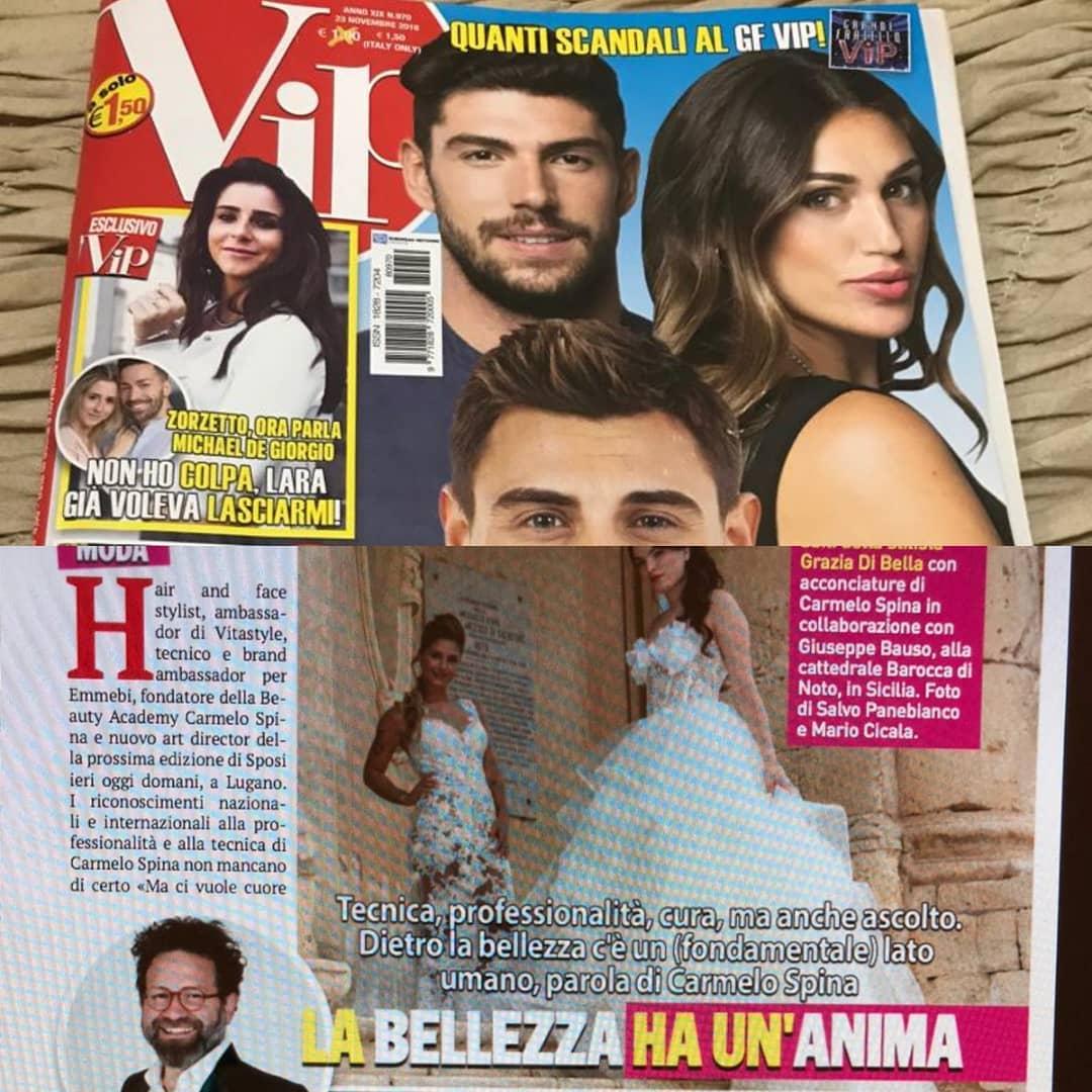 SETTIMANALE VIP: l'articolo e l'intervista a Carmelo Spina